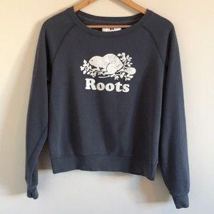 Roots Canada | Grey Graphic Beaver Sweatshirt